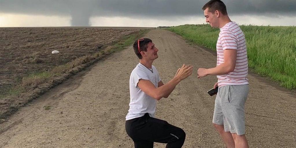 Storm Chaser Proposes to Boyfriend Alongside Kansas Tornado