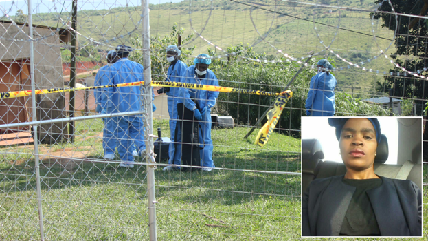Forensic pathologists gather evidence at the home of slain Richmond Deputy Mayor Thandazile Phoswa, who was shot dead early on Monday. INSET: The slain Richmond Deputy Mayor Thandazile Phoswa  who was shot dead.
