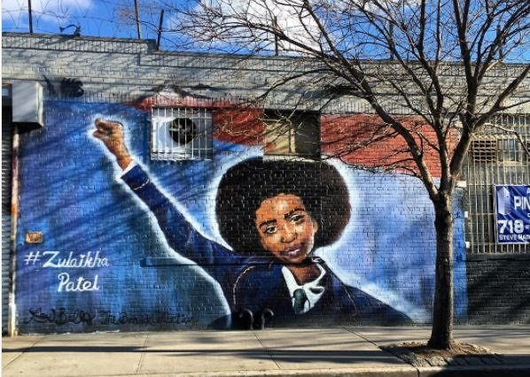 The mural of Zulaikha Patel. Picture: Brand South Africa