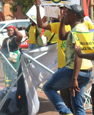 Members of the ANC Youth League. (Supplied)