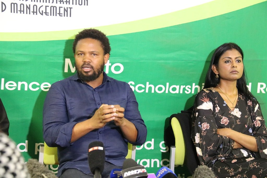 Andile Mngxitama and Magdalene Moonsamy. Picture: Jacquelyn Guillen