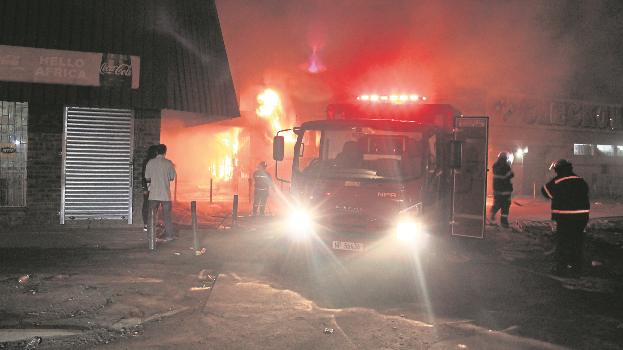 A fire that razed a shop in Howick in the early hours of last Friday.