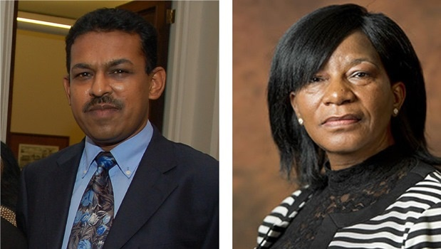 (Left) PMB magistrate Ashin Singh. (Right) Chief magistrate Mpho Evelyn Monyemore.