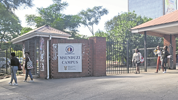Msunduzi College Tvet students leaving the campus on Tuesday after being informed that classes remain suspended.