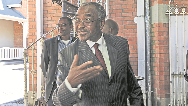 Premier Willies Mchunu arrives at the KZN Legislature to deliver his department's budget vote on Tuesday.