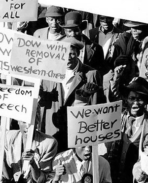 The Freedom Charter, signed in Kliptown in 1955, has given birth to free debate and labour rights. Picture: Robben Island Mayibuye archives