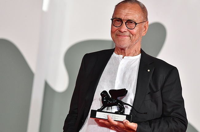 Russian director Andrei Konchalovsky poses with th