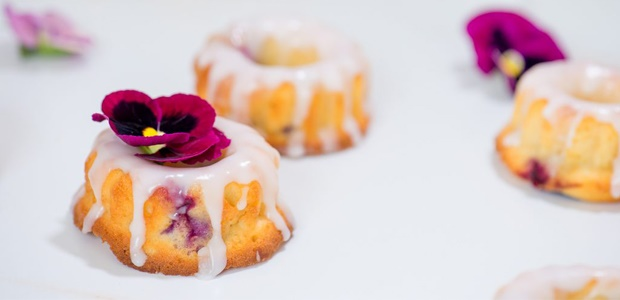 lemon and blueberry bundt cakes