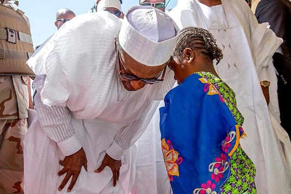 Muhammadu Buhari's children's day photos