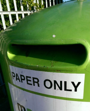 This recycling bin is designed for paper. (Duncan Alfreds, News24, file)