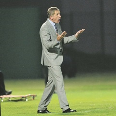 PRAYING:   Stuart Baxter says he is taking the CAF Confederation Cup seriously. (Samuel Shivambu, BackpagePix)