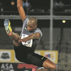 AHEAD:   Neil Cornelius says Manyonga's best is still to come.
