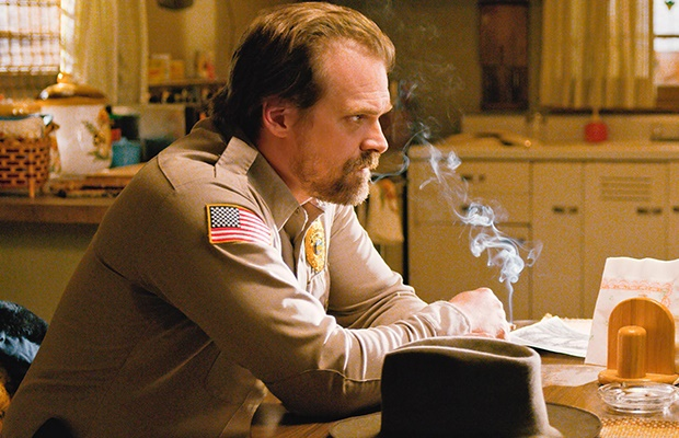 David Harbour as Chief Hopper in 'Stranger Things'