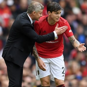 Ole Gunnar Solskjaer and Victor Lindelof (Getty Images)