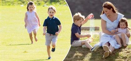 Kate Middleton with Prince George and Princess Cha