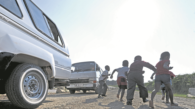 Transporting children to school in bakkies for reward is illegal from Thursday.