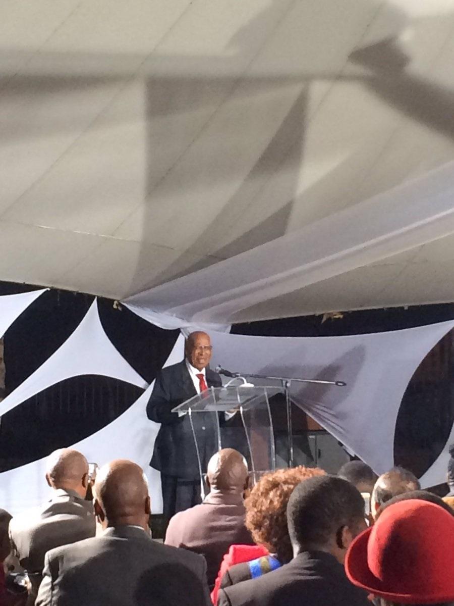 Struggle stalwart Andrew Mlangeni speaking at the launch of his book, The Backroom Boy: Andrew Mlangeni's story.PHOTO: Ndileka lujabe