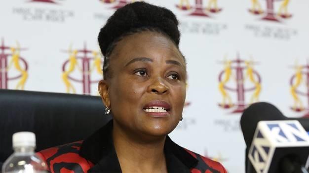 Public Protector Busisiwe Mkhwebane is seen during