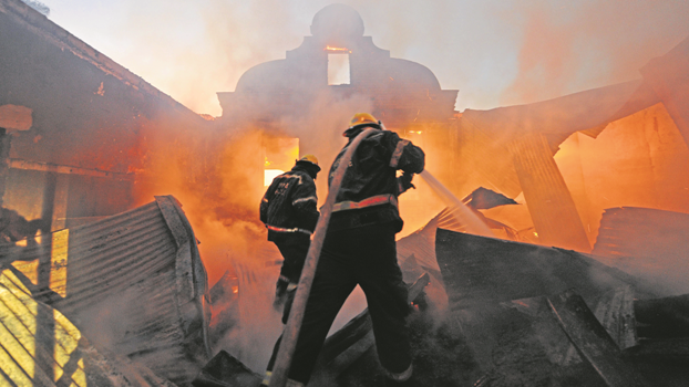 Firefighters tell of working with inadequate equipment and few few staff.