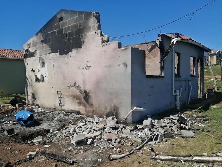 Homes in Port Elizabeth were petrol bombed last week.