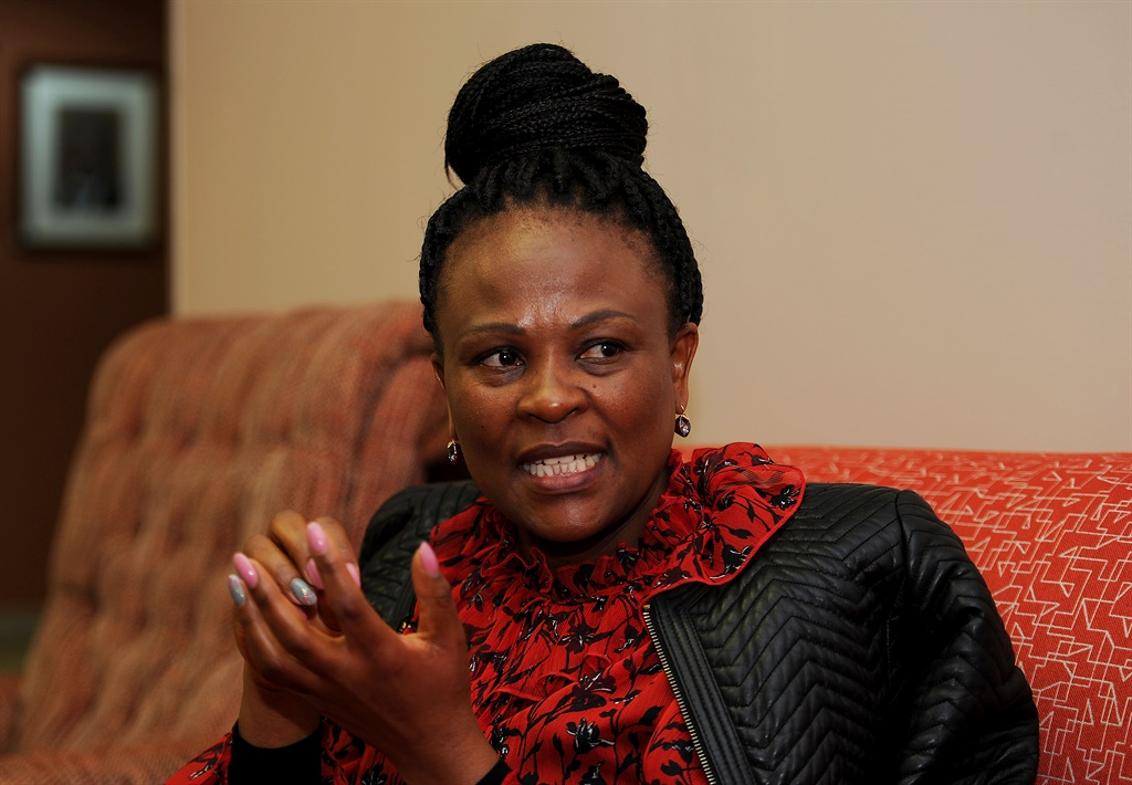 Public Protector Busisiwe Mkhwebane at her office in Pretoria. (PHOTO: Tebogo Letsie)