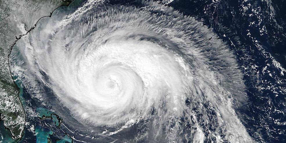 The eye of a hurricane.