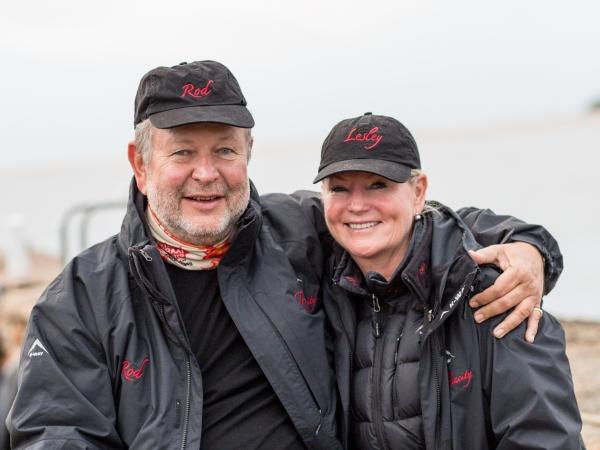Rod Hemphill en Lesley Verhoef van Team Tenacity.
