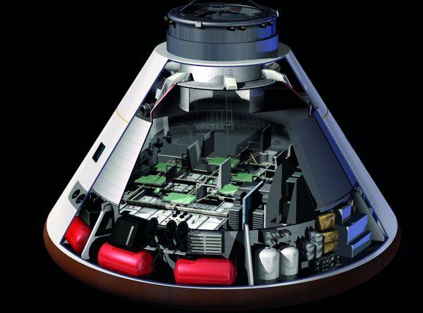 'n Illustrasie van die Orion-ruimtetuig