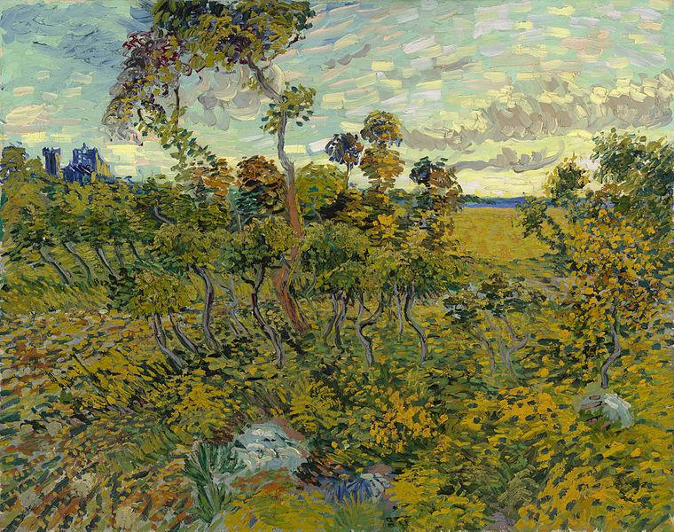 Sunset at Montmajour. 1888, Van Gogh
