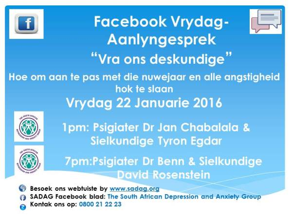 Facebook Friday-22 January Afrikaans