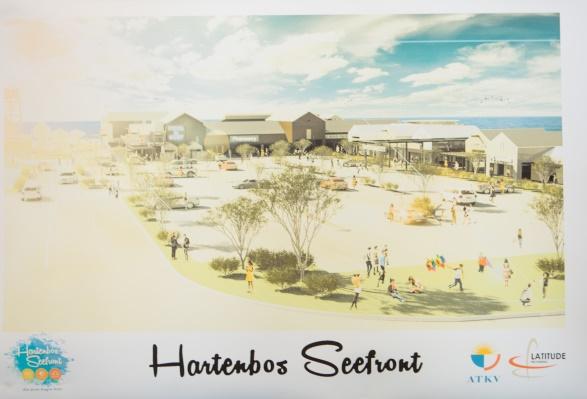 'n Kunstenaars voorstelling van hoe die Hartenbos Seefront sal lyk wanneer dit heeltemal klaar is. Foto: Misha Jordaan