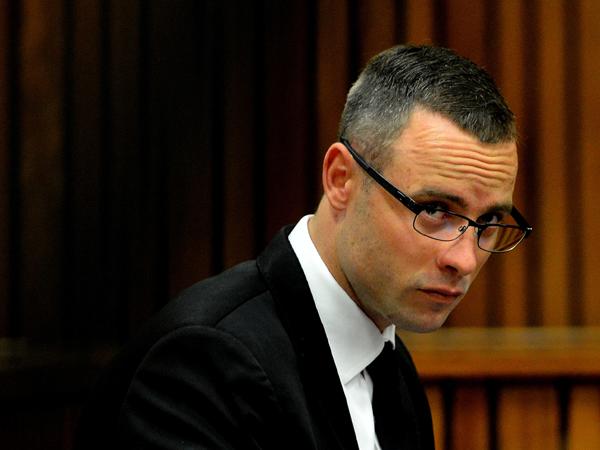 Oscar Pistorius op die 26ste dag van sy moordverhoor op 5 Mei. (Thobile Mathonsi/Independent Newspapers/Sapa)