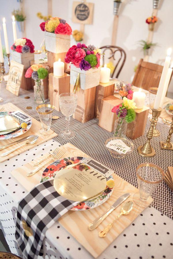 6 pragtig gedekte tafels