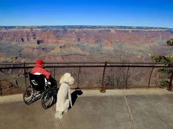 Norma en Ringo by die Grand Canyon. FOTO: Facebook