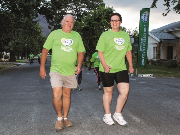 Villiersdorp inwoners Douw en Susan Steyn geniet dit om te loop