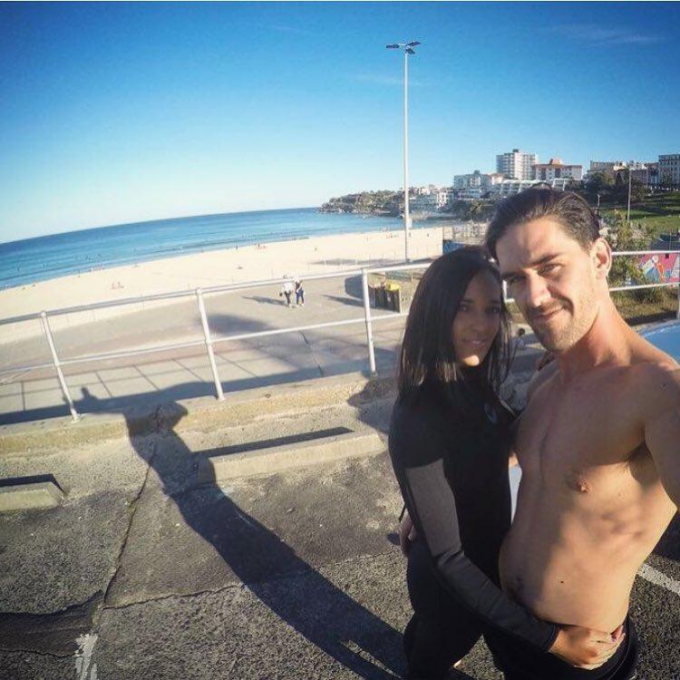 Clare en Ludi verlede jaar by Bondi Beach. Foto: verskaf