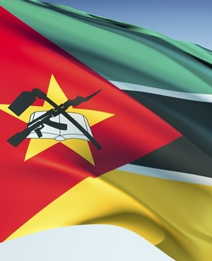 The Mozambique national flag. (iStock)