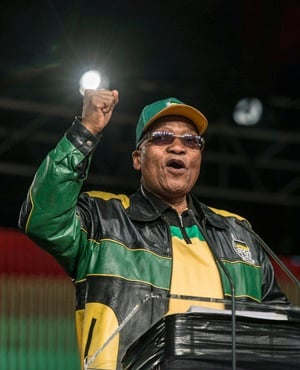 President Jacob Zuma during his opening address. (Mujahied Safodien, AFP)