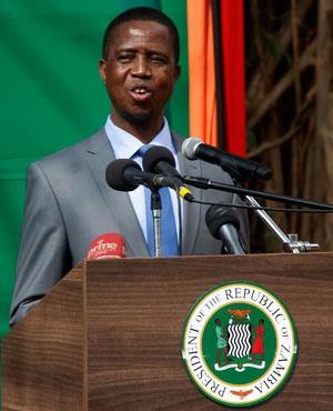 President Edgar Lungu (AFP)