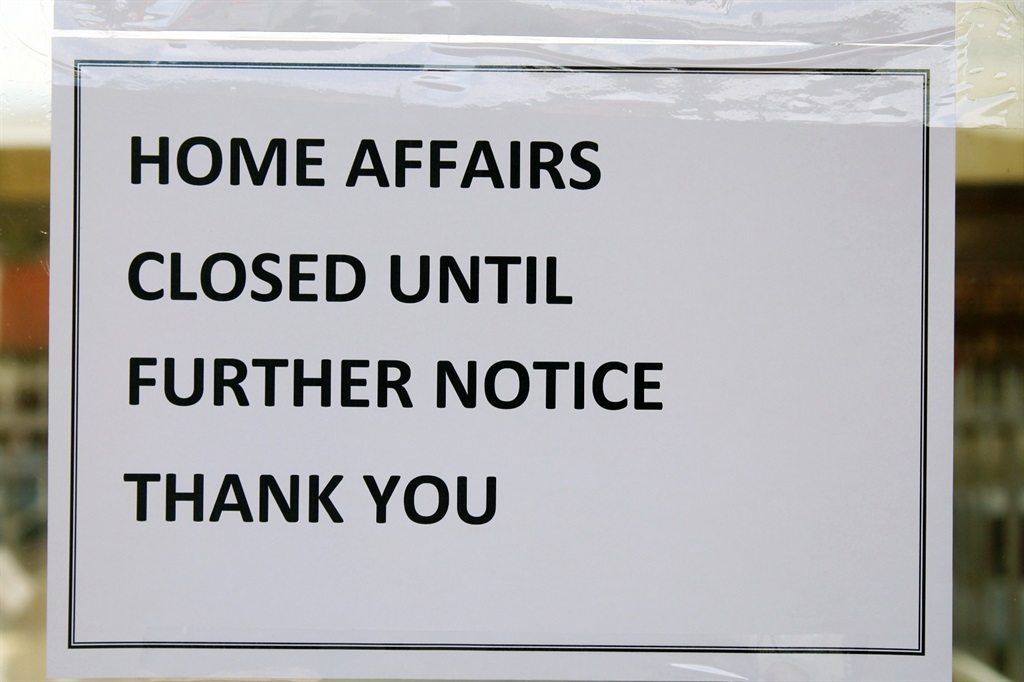This could be the note greeting people making their way to home affairs offices across the country if a labour dispute isn't solved quickly. Picture: Lehlohonolo Belebesi