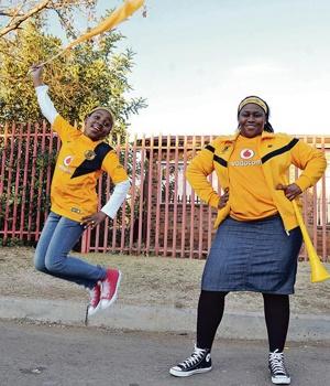 Ntombi Nzama super soccer fan for Kaiser Chiefs. Picture Elizabeth Sejake/City Press