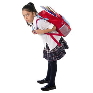 Just how heavy is your child's school bag?