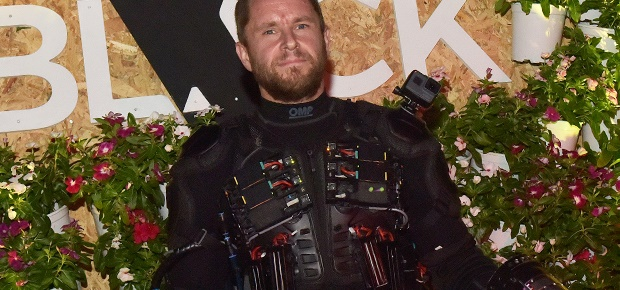 Richard Browning in his jetsuit inspired by Iron M