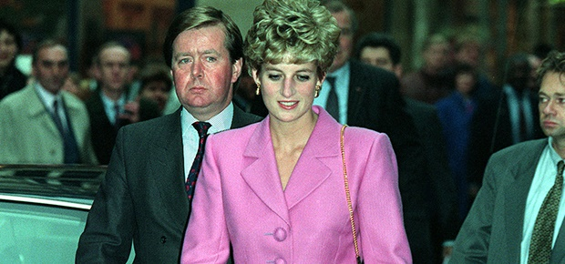 Bodyguard Ken Wharfe and Princess Diana (Photo: Getty)