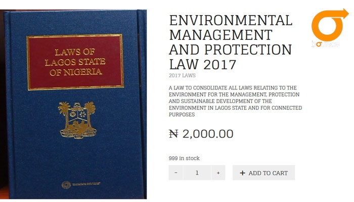 lagos environment law for sale