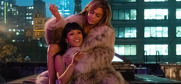 Jennifer Lopez and Constance Wu in 'Hustlers.'