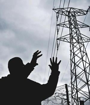 An electricity pylon is pictured. (Herman Verwey, Beeld)