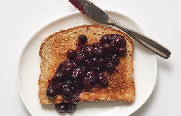 blueberries, superfood, toast