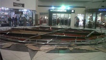 WATCH: Video emerges of shopper narrowly missing East Rand Mall ceiling collapse