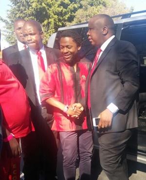 Julius Malema arrives at court (Naledi Shange, News24)